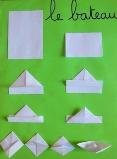 Preschool of Prigonrieux - Origami Origami Simple, Origami Love Heart, Origami Star Box, Origami Stars, Origami Mouse, Origami Fish, Origami Design, Origami Fashion, Origami Boot