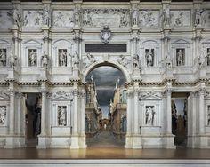 "Teatro Olimpico (""Olympic Theatre"") - Vicenza, Italy, 1580-1585.  Andrea Palladio"