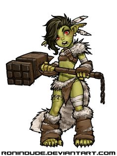 Evening Drawing - Goblin Barbarian by RoninDude on DeviantArt