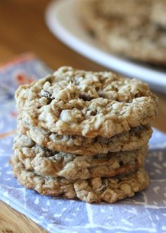 Soft and Chewy Oatmeal Chocolate Chip Cookies (gluten free and traditional recipes included!)