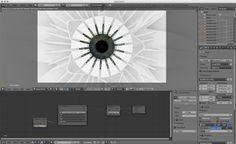 çiçek—®—évolution_i-M17 : étude du rendu sur le logiciel Blender, vue de dessus...