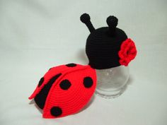 Adorable Newborn Lady Bug Girl Outfit. With Flower 0 - 3 m.Great for Infant Photo Prop. Gift for Baby Shower on Etsy, $30.00