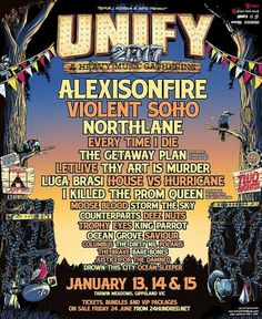 Unify Festival line up 2017 in Gippsland, Victoria