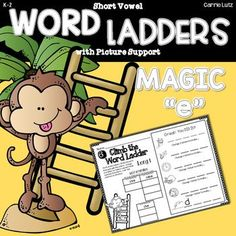 Using WORD LADDERS to work with words is AWESOME! Your students light bulbs will go on over and over again! I created this word ladder product to help my students see the relationships between words.