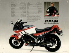1986 Yamaha FZ750. Advertising. Yamaha Motorcycles, Cars And Motorcycles, Motorcycle Posters, Race Engines, Classic Motors, Sportbikes, Cafe Racer, New Engine, Mini Bike