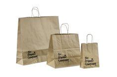 Økologiske papir poser med tryk i små og store antal fra http://dispak.ee  Eko paperikassit logolla: http://dispak.ee