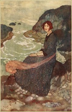 EDMUND DULAC,Abysm of time, Illustration toThe Tempest Prospero. 'What sees thou else in the dark backward and abysm of time? Art Prints, Illustrators, Painting Illustration, Fantasy Art, Edmund Dulac, Painting, Illustration Art, Art, Vintage Illustration