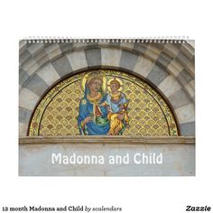 12 month Madonna and Child Calendar