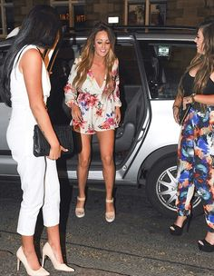 Charlotte Crosby Looked Flirty in This All-In-One Floral Playsuit