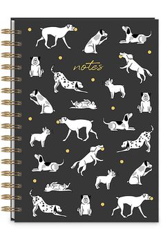 PLAYFUL DOGS SPIRAL BOUND JOURNAL by Lady Jayne: 250 lined pages per spiral journal, with embellished covers Lined Page, Spiral, Dog Lovers, Journal, Play, Dogs, Gifts, Presents, Pet Dogs