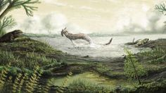 A reconstruction of the Carboniferous landscape in Scotland (Art by Mark Witton, provided by the National Museum of Scotland)