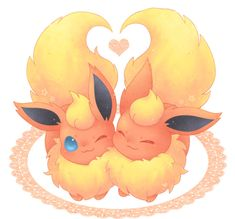 Flareon love is so hot. (No pun intended)