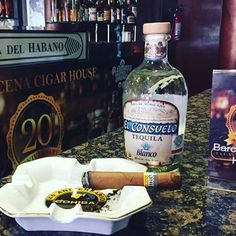 Yes, it's #nationalmargaritaday, but you can skip the mix and sip El Consuelo too.  Pair it with a fine cigar like we did at Barcena Cigar House. @petterbarcena