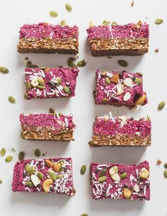 Superfood raspberry seed and nut protein snack bars