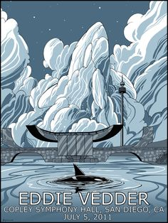 Like the whale in the clouds, Eddie Vedder poster. From Scott O'Hern.