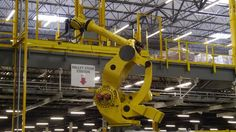 Meet Robo-Stow, Amazon's six-ton robot. He lives in Coppell at Amazon's fullfillment center.