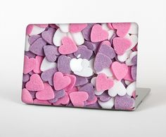 """The Pink and Purple Candy Hearts Skin Set for the Apple MacBook Pro 15"""" with Retina Display from Design Skinz"""