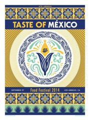 Taste Of Mexico Festival Poster by  ERNESTO YERENA Signed Limited Edition 100