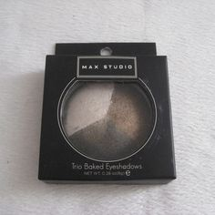Max Studio Truffle Trio Baked Eyeshadow Max Studio Trio Baked Eyeshadow in Truffle Color. New. Unused. Box has rips on the sides while I'm trying to open them for taking photos but does not affect the condition of the product. Colors shown appears to be the closest true color. Net wt. 0.28oz/8g. ❌TRADE❌SWAP ✔️15% OFF on Bundles. Reasonable offers are welcome. All sales are final. Thanks for looking! Max Studio Makeup Eyeshadow
