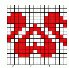 25 heart graphics for Valentine Tapestry Crochet Patterns, Fair Isle Knitting Patterns, Bead Loom Patterns, Knitting Charts, Knitting Stitches, Beading Patterns, Cross Stitch Patterns, Diy Crochet And Knitting, Crochet Chart