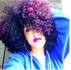 dark purple natural hair dye, taren guy - purple hair.