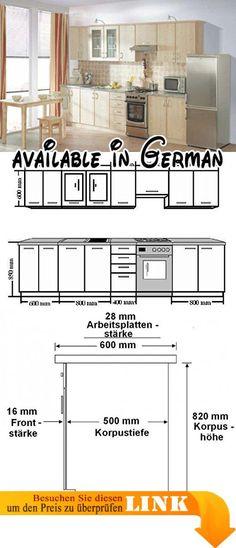B00CAB16HS  Küche Eko 260 cm Küchenzeile   Küchenblock variabel - küchenblock mit elektrogeräten