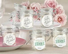 Personalized Rustic Wedding Glass Favor Jars (Set of 12) | My Wedding Favors