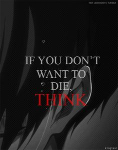 If you don't want to die, think, text, quote, Lexi Ackerman, gif; Attack on Titan