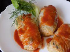 magiczna kuchnia Kasi: Gołąbki z kaszą jęczmienną i pieczarkami