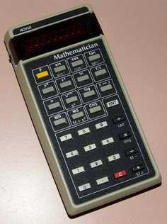 Vintage Novus Mathematician Electronic Pocket Calculator, Model 4510, Red LED, Made In Malaysia, Circa 1975.