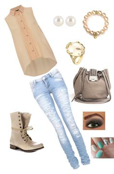 """casual jeans"" by miss-hajar96 ❤ liked on Polyvore"