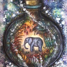 "Lindo, lindo!!!! Super diferente!!! Repost from @fanou.petitcrayon  ""Magical Jungle"" by Johanna Basford  version ""Dark Jungle""  #colouring #coloringbook #colouringbook #coloriagepouradulte #adultcoloringbook #adultcoloring #coloriageantistress #arttherapie #arttherapy #arte_e_colorir #coloring_secrets #artecomoterapia #coloringaddict #colourmanic #colorirlivros #boracolorirtop #beautifulcoloring #mycreativeescape #artecomoterapia #divasdasartes #coloring_repost #bayan_boyan ..."