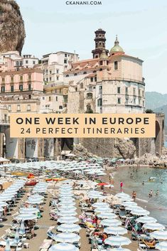 24 Perfect One Week Europe Itinerary Options — ckanani luxury travel & adventure - Looking to spend one week in Europe? Here are 24 amazing Europe itineraries for the perfect one week Europe trip. Backpacking Europe, Europe Travel Guide, Italy Travel, Travel Guides, Trip To Europe, Trip Around Europe, Honeymoon In Europe, European Vacation, European Travel