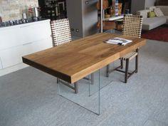 Tavolo ozzio ~ Tavolo allungabile in legno con base in metallo di ozzio