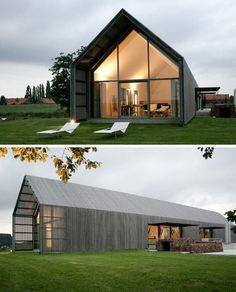 The Barn house <3. Eine moderne Scheune könnte auch einen Yoga Saal oder Behandlunsräume Raum geben.