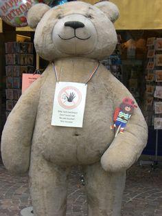 Barney Bear is Frankfurt, Germany!