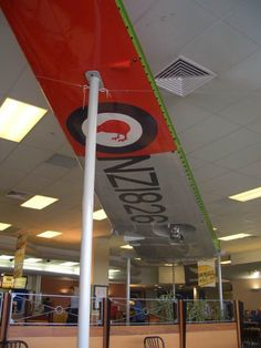 Old McDonald's Auckland International Airport Terminal, which had a pair of ex RNZAF Devon aircraft wings on display
