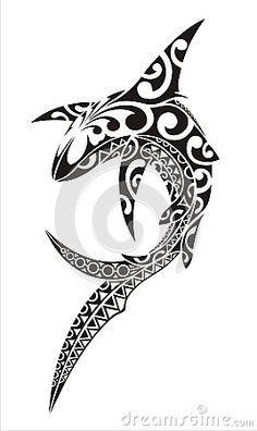 Illustration about Shark in the style of tattoo sketch. Maori Tattoos, Tribal Shark Tattoos, Maori Tattoo Frau, Ta Moko Tattoo, Hawaiianisches Tattoo, Tattoo Style, Body Art Tattoos, Sleeve Tattoos, Borneo Tattoos