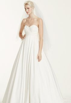 Faille Strapless Empire Ball Gown Wedding Dress Take this simple and chic  gown to new heights on your wedding day! This faille strapless ball gown  with a fa251297eae9