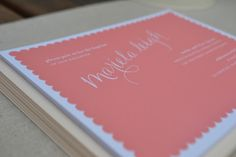 paper{whites}: papaya scallop-inspired invitations.http://www.reichpaper.com/savoy.html #savoy #savoy paper #reichpaper
