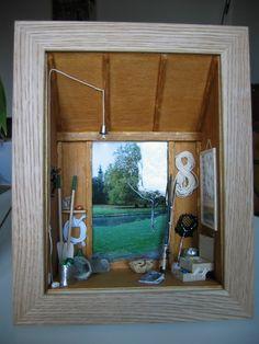 Tuto de la cabane de pêcheur Blog les 2 mains de flo Diorama, Vitrine Miniature, Album Photo, Photos Du, Miniatures, Craft, Blog, Diy, Home Decor