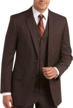 3-Piece Dark Brown Suit.