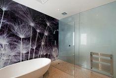 Meuble de salle de bains n o imitation noyer for Panneau mural salle de bain leroy merlin