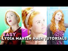 EASY LYDIA MARTIN HAIR TUTORIALS - YouTube