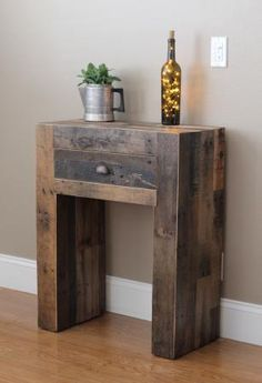 Reclaimed console table by Timber and Soul