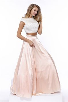 Two Pieces Maxi Prom Dress