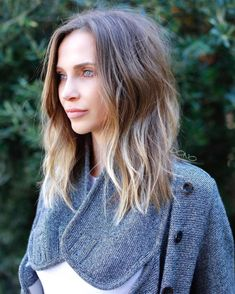 Long Bob With Caramel Highlights