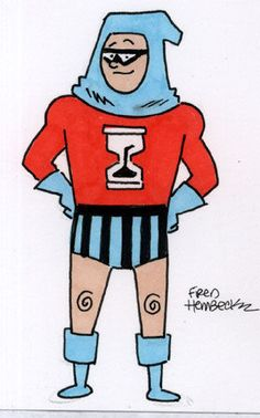 Fred Hembeck Color Sketch Card: Nemesis, 1960's ACG hero 1/1
