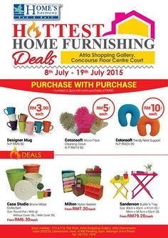 8-19 Jul 2015: HOME'S Harmony Hottest Home Furnishing Sale