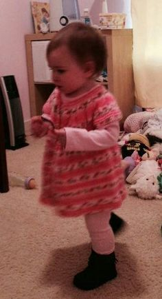 My little GD in her new dress...